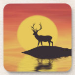 Sunset Buck Beverage Coaster