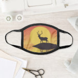 Sunset Buck Face Mask