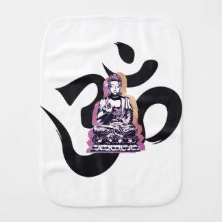 Sunset Buddah Ohm Burp Cloth