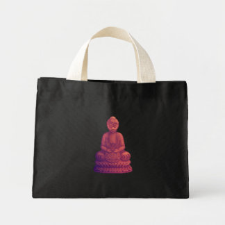 Sunset Buddha Pixel Art Mini Tote Bag