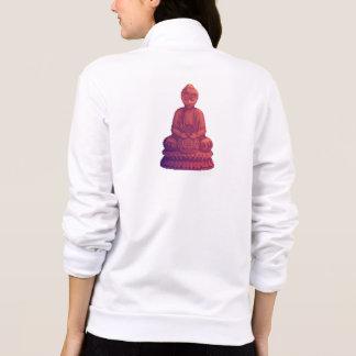 Sunset Buddha Pixel Art Printed Jacket