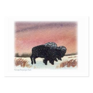 Sunset Buffalo Large Business Cards (Pack Of 100)