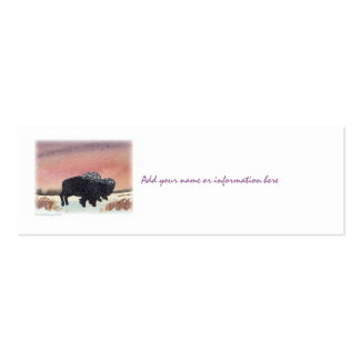 Sunset Buffalo Double-Sided Mini Business Cards (Pack Of 20)