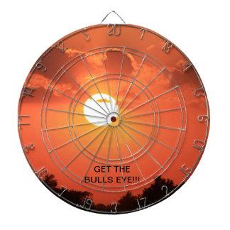 Sunset Bulls Eye Dart Board
