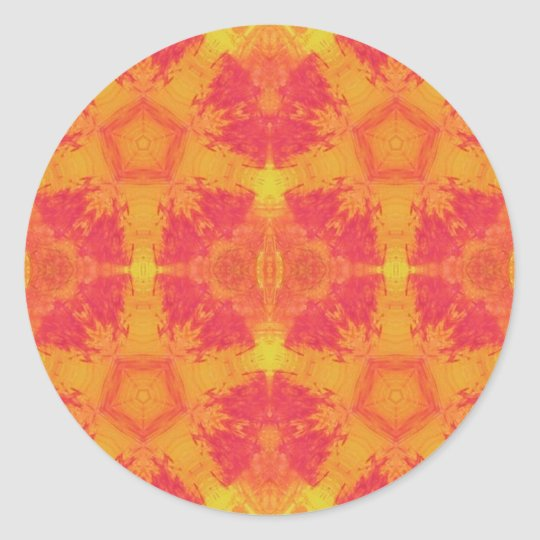 Sunset burst classic round sticker