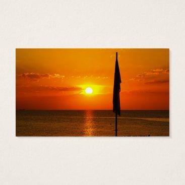 Beach Themed Sunset Business Card