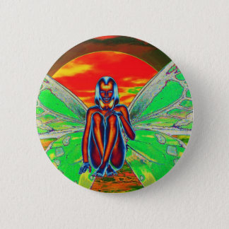 Sunset Butterfly Button