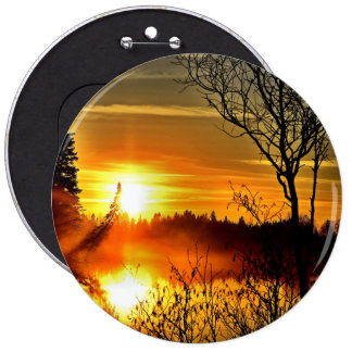 Sunset 6 Inch Round Button
