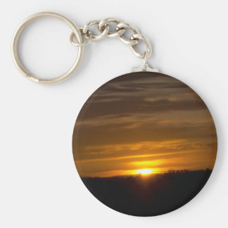Sunset Button Keychain