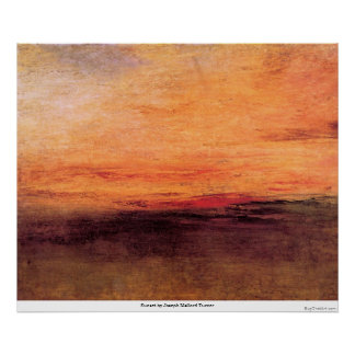 Sunset by Joseph Mallord Turner Posters