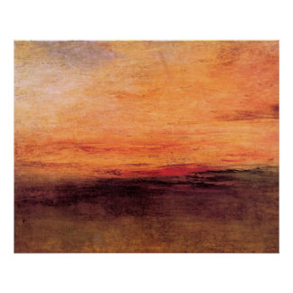 Sunset by Joseph Mallord Turner Poster