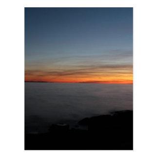 sunset by lake, Kingston, Ontario, Canada Postcard