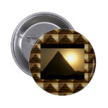 Sunset by PYRAMIDS of Egypt : Vintage Architecture Button
