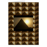 Sunset by PYRAMIDS of Egypt : Vintage Architecture Card