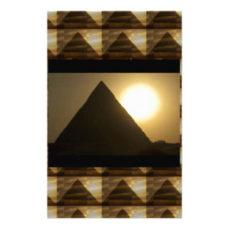 Sunset by PYRAMIDS of Egypt : Vintage Architecture Stationery