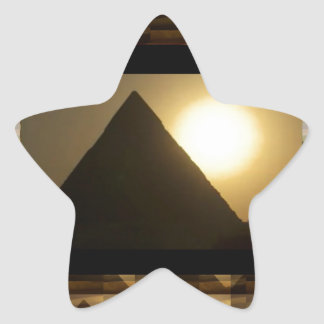 Sunset by PYRAMIDS of Egypt : Vintage Architecture Star Stickers