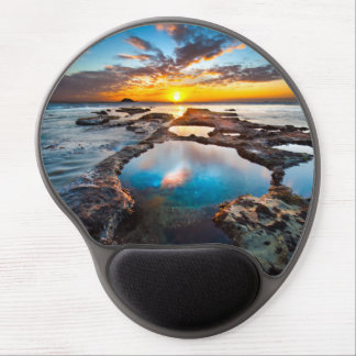 Sunset by Sea Gel Mouse Pad