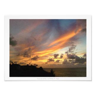 """Sunset by the Bay,"" Kauai Nature Decor Photo Print"