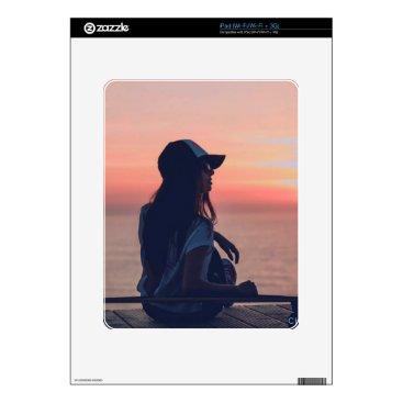 Beach Themed sunset by the beach iPad skins