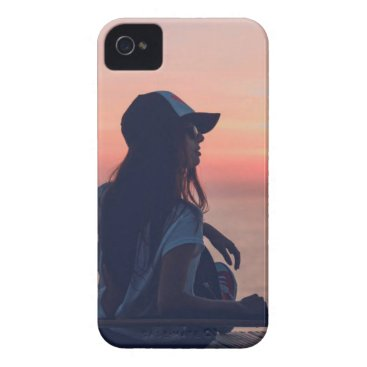 Beach Themed sunset by the beach iPhone 4 Case-Mate case