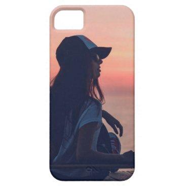 Beach Themed sunset by the beach iPhone SE/5/5s case