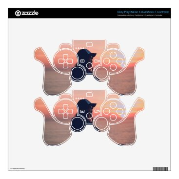 Beach Themed sunset by the beach PS3 controller skins