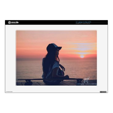 Beach Themed sunset by the beach skin for laptop