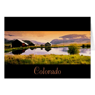 sunset by the cabins colorado card