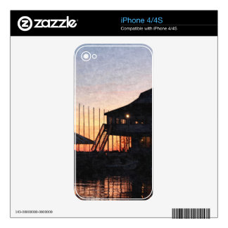 sunset by the lake , Kingston, Ontario,at twilight iPhone 4 Skin
