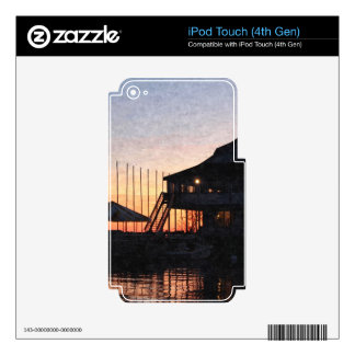 sunset by the lake , Kingston, Ontario,at twilight iPod Touch 4G Decal