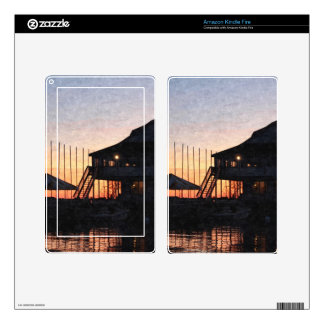 sunset by the lake , Kingston, Ontario,at twilight Kindle Fire Skins