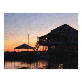 sunset by the lake , Kingston, Ontario,at twilight Postcard