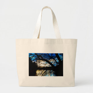 Sunset by the Lake Large Tote Bag