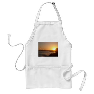 Sunset by the lighthouse adult apron