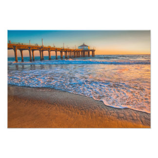 Sunset By The Pier Photo Print