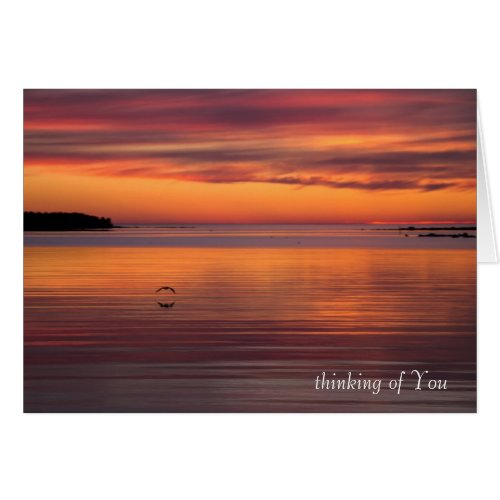 Sunset by the sea CC0156 Sympathy Card