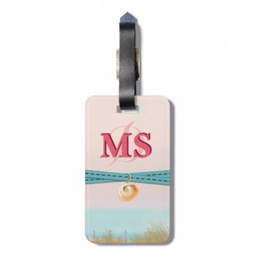Beach Themed Sunset By the Sea Luggage Tag
