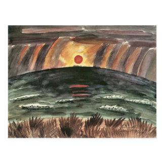 Sunset by Walter Gramatte Postcard