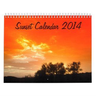 Sunset Calendar 2014