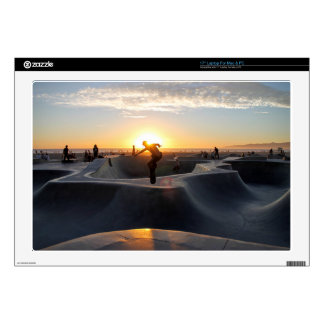 "Sunset California Dreams Skateboard Park Freestyle Decals For 17"" Laptops"