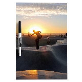Sunset California Dreams Skateboard Park Freestyle Dry-Erase Board