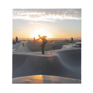 Sunset California Dreams Skateboard Park Freestyle Notepad