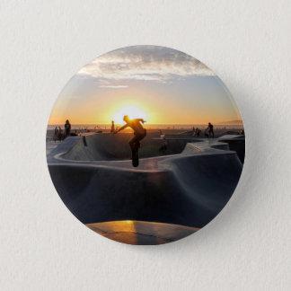 Sunset California Dreams Skateboard Park Freestyle Pinback Button