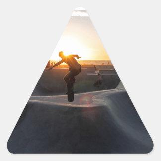 Sunset California Dreams Skateboard Park Freestyle Triangle Sticker