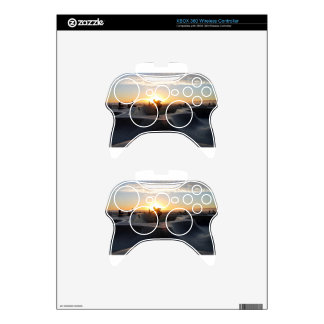 Sunset California Dreams Skateboard Park Freestyle Xbox 360 Controller Skin