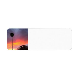 Sunset California Return Address Labels