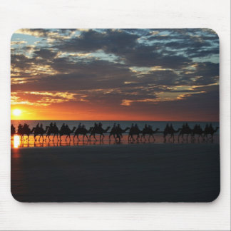 Sunset Camel Ride, Broome, Australia Mouse Pad