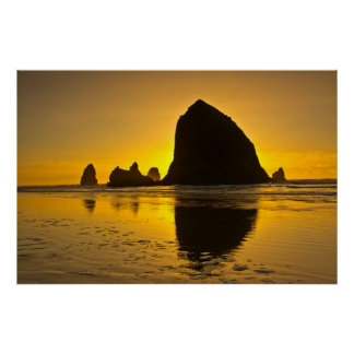 Sunset, Cannon Beach, Oregon, USA Poster
