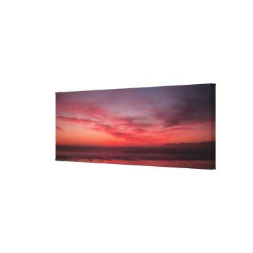 Beach Themed Sunset Canvas Print