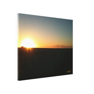 Sunset Canvas Print by Meredith Clayton Beal